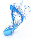 Colorful music notes d render Stock Photos