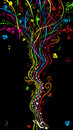 Colorful music tree. Royalty Free Stock Photo