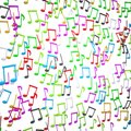 Colorful musical signs Stock Photo