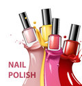 Colorful nail lacquer, nail polish splatter on white background, 3d illustration, vogue ads for design Cosmetics and