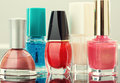 Colorful nail polish Stock Images