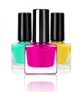 Colorful nail polishes isolated on white background Royalty Free Stock Photo