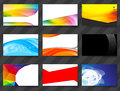 Colorful namecard template set of color style business card eps Stock Photos
