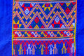 Colorful of native thai style silk and textiles pattern. Beautif Royalty Free Stock Photo