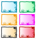 Colorful nature background illustrated set of with copy space Stock Image