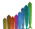 Colorful necktie business graph Stock Photos