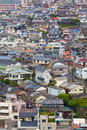 Colorful neighborhood living quarter at a hill with houses Royalty Free Stock Photos