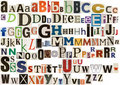 Colorful newspaper alphabet Royalty Free Stock Photo