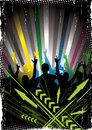 Colorful nightclub background Royalty Free Stock Image