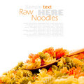 Colorful noodles Royalty Free Stock Image