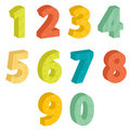 Colorful numbers Stock Photography