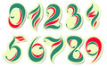 Colorful Numbers Royalty Free Stock Photography