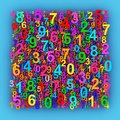 Colorful numbers. Royalty Free Stock Photo