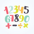 Colorful numbers set. Vector design template elements for your application or corporate identity.