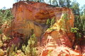 Colorful ochre rocks near Roussillon in France Royalty Free Stock Photo