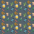 Colorful octoberfest seamless background vector pattern Stock Photography