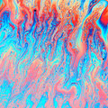 Colorful of oil flow from bubble Royalty Free Stock Photo