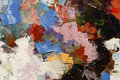 Colorful oil paint texture closeup , beautiful background art Royalty Free Stock Photo