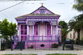 Colorful old house in the Marigny neighborhood in the city of New Orleans Royalty Free Stock Photo