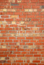 Colorful old red brick wall. Royalty Free Stock Images