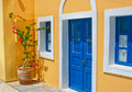 Colorful old street in Oia, Santorini Royalty Free Stock Photo