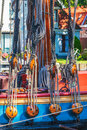 Colorful old wooden sailing ship Royalty Free Stock Photo