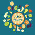 Colorful Organic Fresh Fruits Set