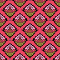 Colorful oriental damask wallpaper Stock Images