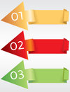 Colorful origami banner template vector eps Royalty Free Stock Photography