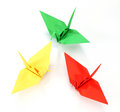 Colorful Origami cranes Royalty Free Stock Photo