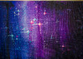 Colorful original abstract oil painting, background starry sky Royalty Free Stock Photo