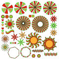 Colorful ornament collection Royalty Free Stock Photo