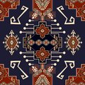 Colorful ornamental vector design for rug, carpet, textile. Seamless ornamental wallpaper. Geometric floral backdrop