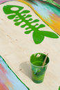 Colorful paint Stock Photo