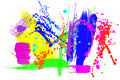 Colorful paint grunge Stock Image