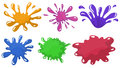 Colorful paint splashes illustration of the on a white background Stock Photo