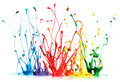 Colorful paint splashing Stock Photos