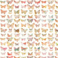 Colorful painted butterfly background pattern Royalty Free Stock Photo