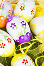 Colorful painted Easter eggs Stock Images
