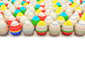 Colorful painted Easter eggs Royalty Free Stock Images