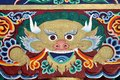 Colorful painting from a Buddhist temple in Ladakh Stock Photos