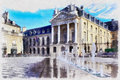 Colorful painting of Dukes of Burgundy`s Palace