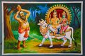 Colorful paintings on the ceiling of Nataraja Temple, Chidambaram, Tamil Nadu, India. Royalty Free Stock Photo