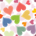 Colorful paired hearts background vector illustration of Royalty Free Stock Image