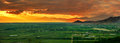 Colorful panorama sunset Royalty Free Stock Photos