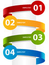 Colorful paper banners illustration with curving labels Stock Photography