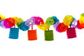 Colorful paper chain festive isolated over white background Royalty Free Stock Photo