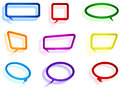 Colorful paper chat elements Stock Photography