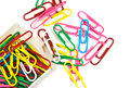 A colorful paper clip Royalty Free Stock Photo