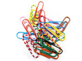 Colorful paper clips Royalty Free Stock Images